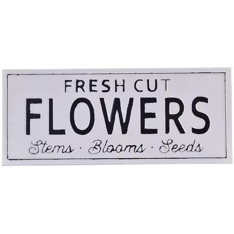Embossed Metal Fresh Cut Flowers Sign