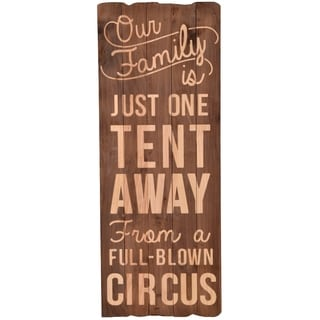Family Circus Vertical Wood Plank Decor