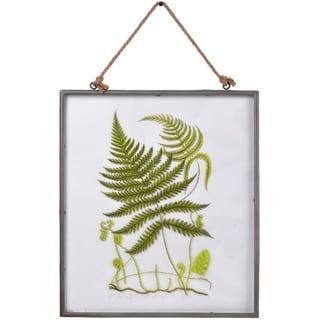 Glass Framed Fern Fronds Graphic Print Art