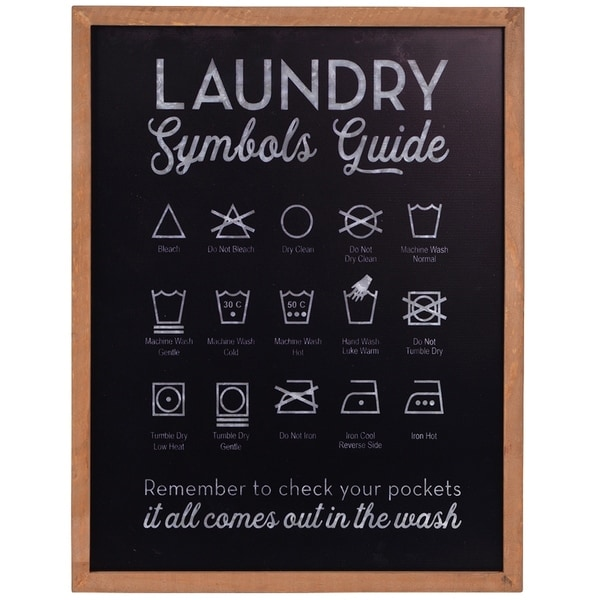 Laundry Symbols Guide Framed Wall Art