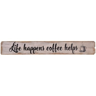 Coffee Helps Kitchen Wood Wall Decor