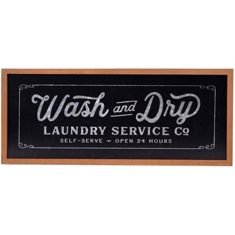 Wash and Dry Laundry Service Galvanized Metal Wall Decor
