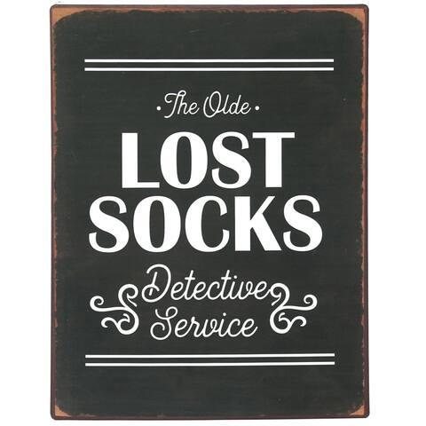 Lost Socks Laundry Room Vintage Metal Wall Plaque Sign