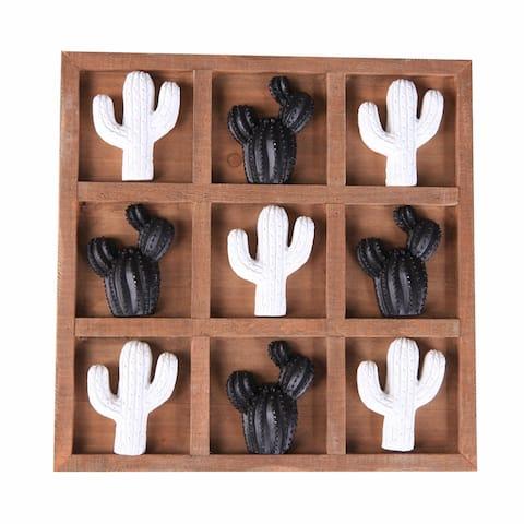 Tic Tac Toe Game Board (Cactus)