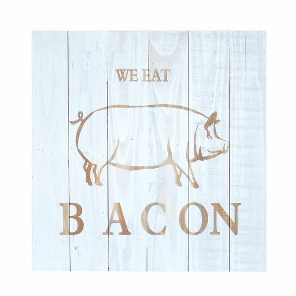 Pig Bacon Wood Plank Wall Decor