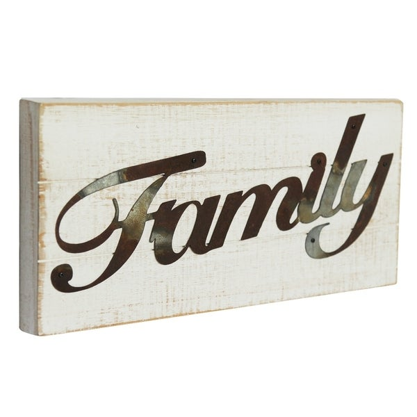 Wood FAMILY Sign Wall Decor