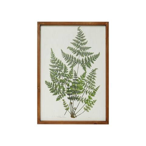 Vintage Style Framed Fern Botanical Art Prints