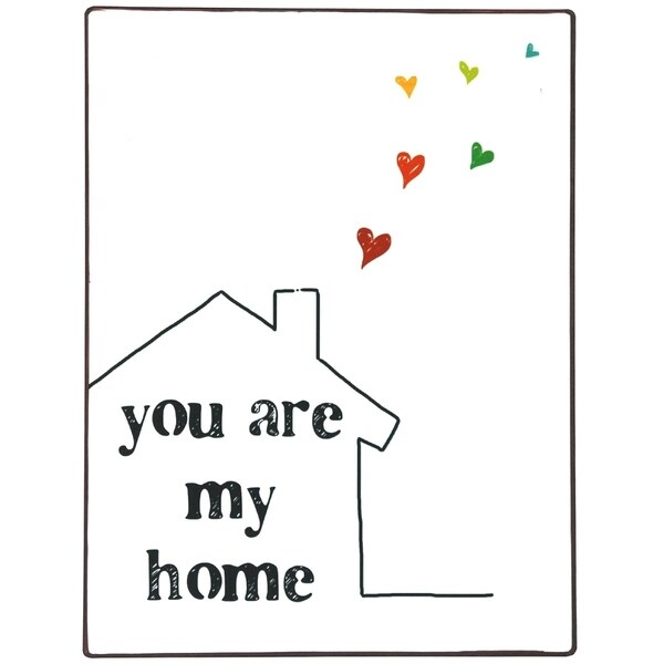 You Are My Home Metal Wall Decor