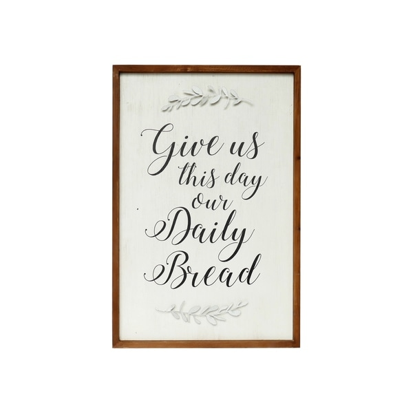 Give Us This Day Our Daily Bread Framed Scripture Wall Art