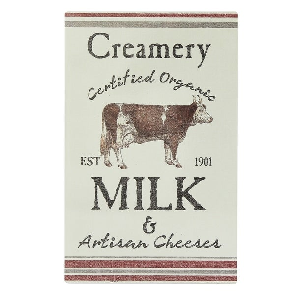 Creamery Milk Cow Metal Sign