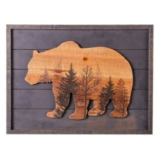 Gray Bear Forest Wood Lodge Sign