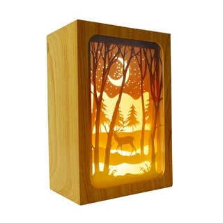 Deer in the Woods LED Shadow Box Light