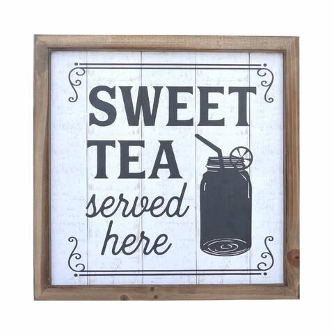 Sweet Tea Served Here Mason Jar Wood Wall Decor