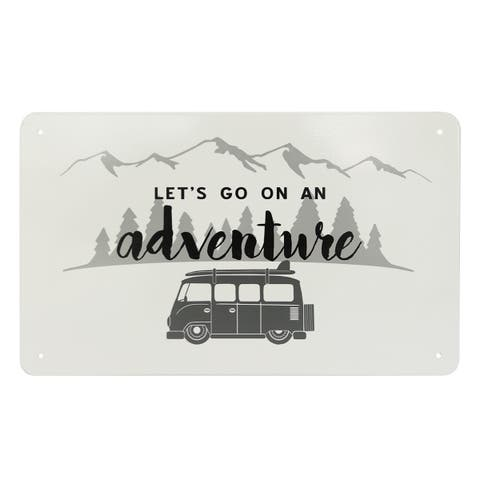 Let's Go on an Adventure Metal Sign
