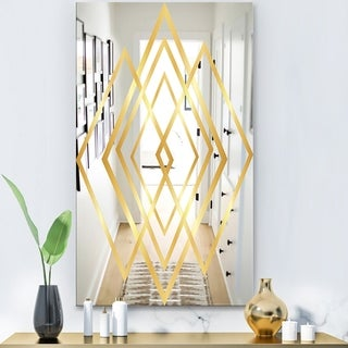 Designart 'Capital Gold Essential 24' Glam Mirror - Modern Wall Mirror