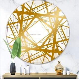Designart 'Capital Gold Essential 26' Glam Mirror - Round Wall Mirror
