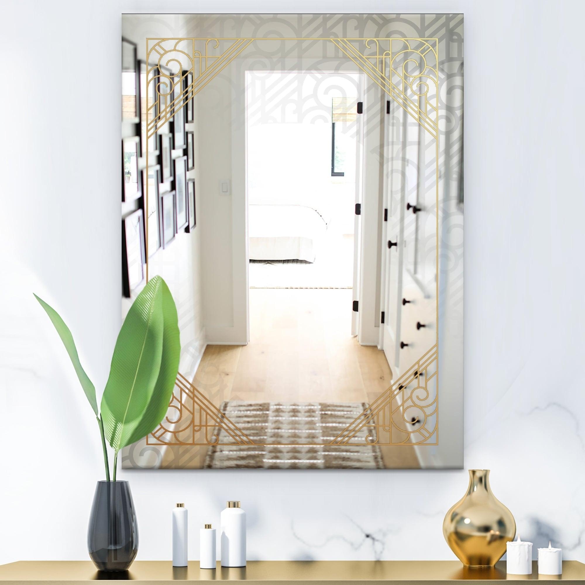 Shop Black Friday Deals On Designart Luxury Modern Mirror Contemporary Bathroom Mirror On Sale Overstock 28004516