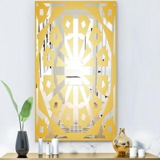 Designart 'Capital Gold Lively 9' Glam Mirror - Modern Decorative Mirror