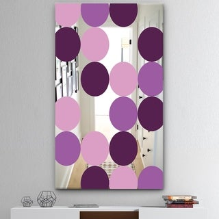 Designart 'Circular Rhythm 6' Mid-Century Mirror - Large Wall Mirror - Purple