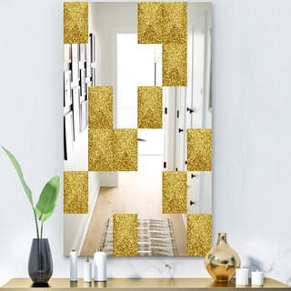 Designart 'Capital Gold Essential 17' Glam Mirror - Wall Mirror