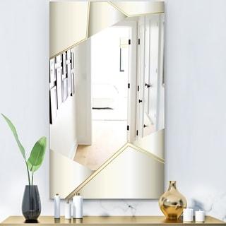 Designart 'Capital Gold Sleek 13' Glam Mirror - Modern Vanity Mirror