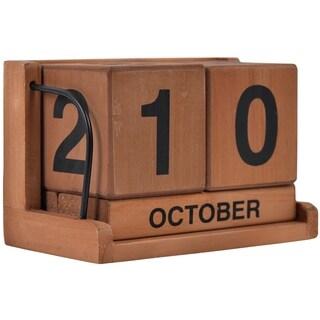 Rustic Desktop Wood Calendar Blocks