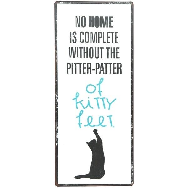 Home & Kitty Feet Metal Sign