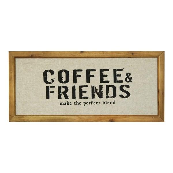 Coffee & Friends Framed Wood Wall Decor