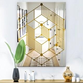 Designart 'Capital Gold' Glam Mirror - Modern Wall Mirror - Gold