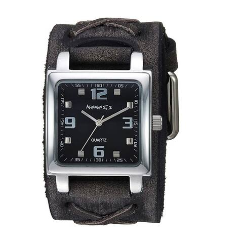 Nemesis Lite SQ Watch with Black Faded X Leather Cuff Band KFXB516K