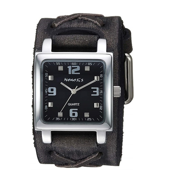 Nemesis Lite SQ Watch with Black Faded X Leather Cuff Band KFXB516K. Opens flyout.
