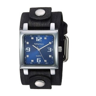 Link to Nemesis Dark Blue Lite SQ Watch with Black Junior Faded Leather Cuff Band KFGB516DL Similar Items in Men's Watches