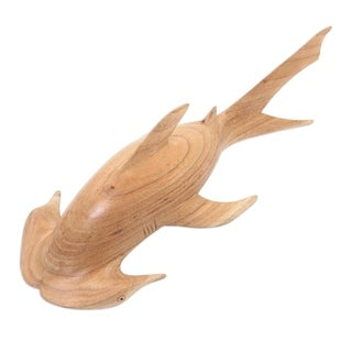 Handmade Ocean Hunter Wood Sculpture (Indonesia)