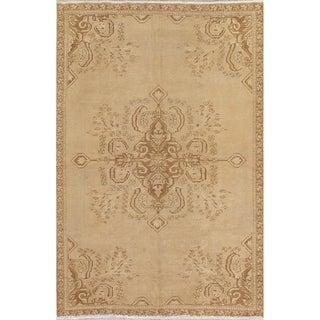 "Vintage Ferdos Geometric Hand Knotted Wool Oriental Persian Area Rug - 8'5"" x 5'8"""