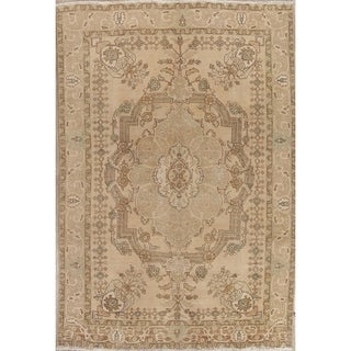 """Vintage Muted Tabriz Hand Knotted Wool Oriental Persian Area Rug - 9'3"""" x 6'4"""""""