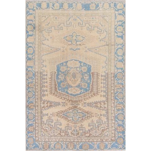 "Vintage Muted Viss Tribal Handmade Wool Persian Distressed Area Rug - 8'2"" x 5'7"""
