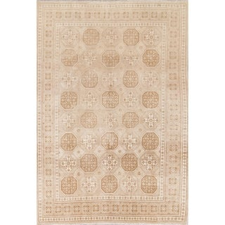 """Vintage Muted Tabriz Hand Knotted Wool Persian Distressed Area Rug - 10'11"""" x 7'8"""""""