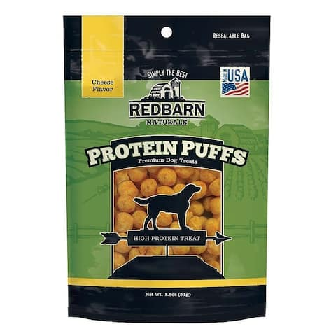 Redbarn Protein Puffs Dog Treats Cheese 1.8 oz (Case of 3)