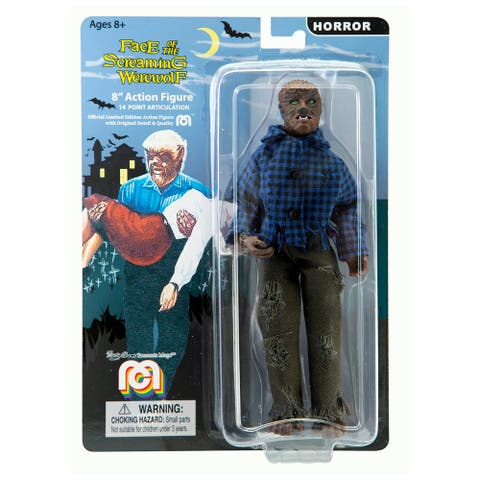 Mego Action Figure, 8 Inch The Wolfman, B&W
