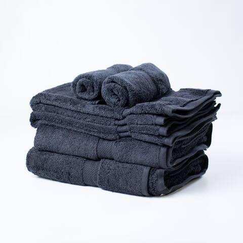 Kotter Home 8-Piece Egyptian Cotton Bath Towel Set