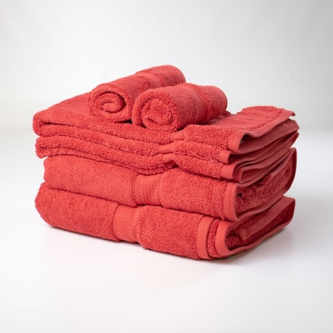 Kotter Home 8-Piece Egyptian Cotton Bath Towel Set