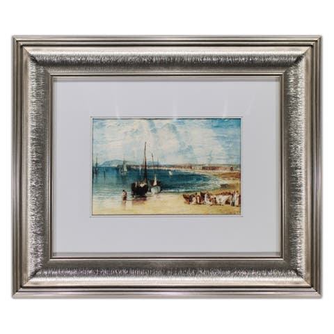 Weymouth by William Turner Watercolor Painting Silver Frame 17 x 15 Framed Painting