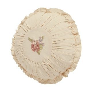 Five Queens Court Andrea Round Decorative Throw Pillow