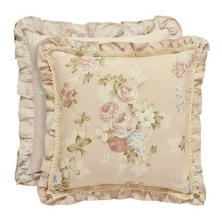 Five Queens Court Andrea 20 Inch Square Decorative Throw Pillow