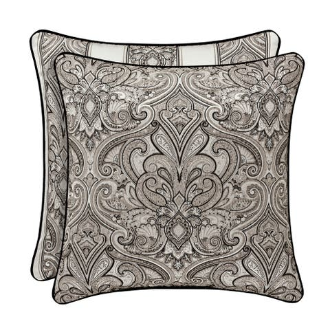 Five Queens Court Carleigh 20 Inch Square Decorative Throw Pillow