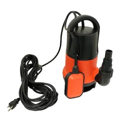 ALEKO Submersible Dirty Clean Water Pump 1/2 HP 2100 Gallons Per Hour - Red