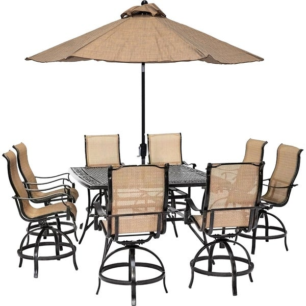 Shop Hanover Manor 9 Piece Counter Height Outdoor Dining