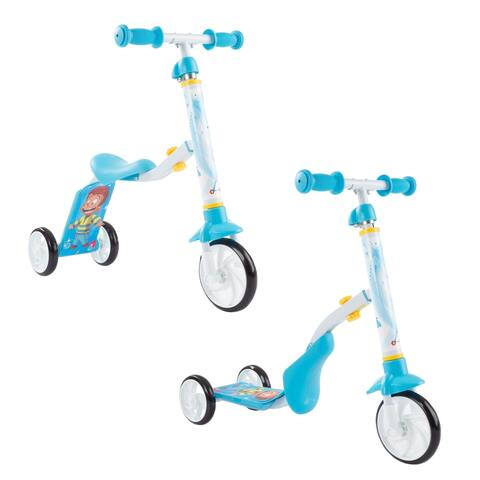 2-in-1 Convertible Scooter- Adjustable Sit and Stand Balance Ride-On Toy for Boys and Girls by Lil' Rider