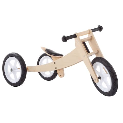 3-in-1 Balance Bike- Wooden Walking Beginner Tricycle Convertible Ride On Boys and Girls Toy by Lil' Rider