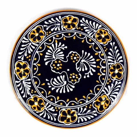 "Handmade Pottery 8"" Trivet or Wall Decor, Blue"